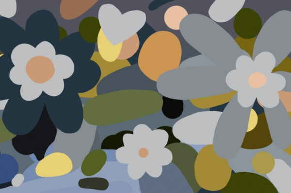 Untitled Flora I (Wild Flowers) - Painting by Joanna Wolthuizen