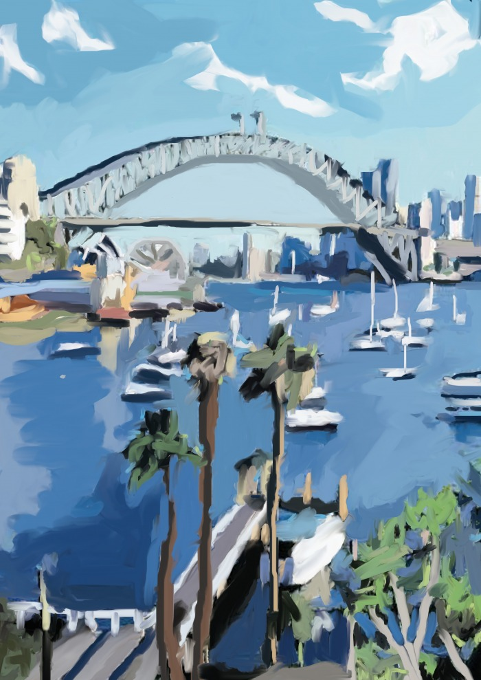 Lavender Bay - Art by Joanna Wolthuizen